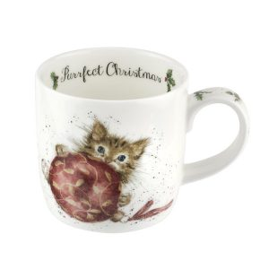 Wrendale Christmas Kitten Mug