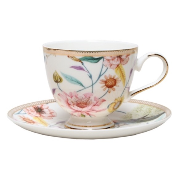 Christiana Chintz Blanc Cup and Saucer