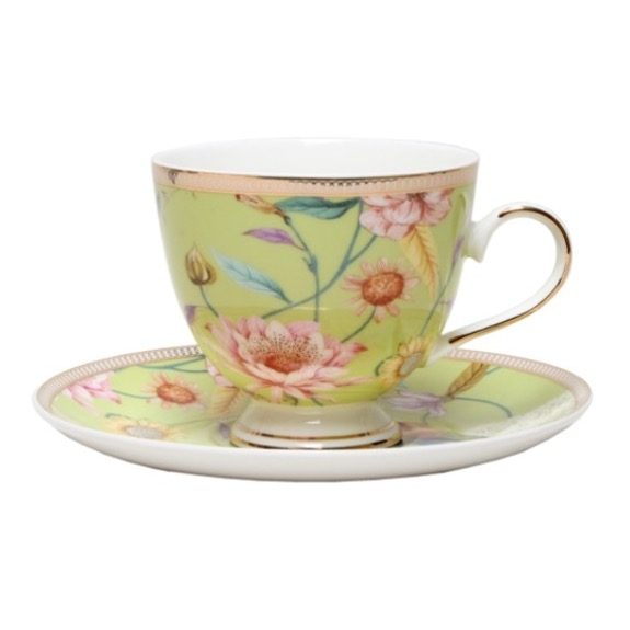 Christiana Chintz Pistachio Cup and Saucer
