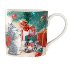 Christmas Furry Friends Mug - Playful Kittens