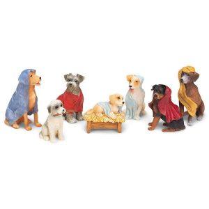 Canine Creche Dog Nativity Scene