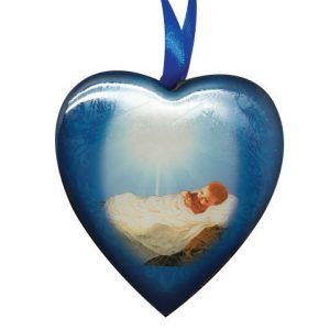 Christmas Heart Ornament - Baby Jesus