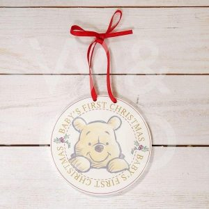Disney Baby's First Christmas Pooh Hanging Plaque
