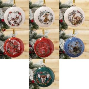 Disney Christmas Baubles: BAMBI SET OF 7