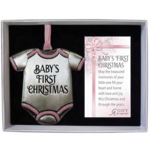 Baby Girl 1st Christmas Ornament