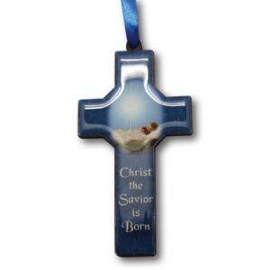 Christmas Cross Ornament - Christ Savior