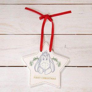 Disney Baby's First Christmas Eeyore Hanging Plaque