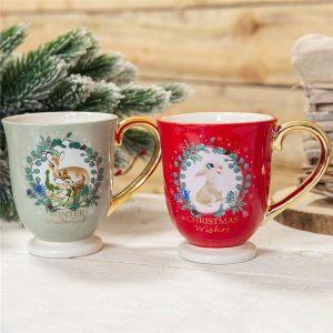 Disney Christmas Bambi Enchanted Forest Mug Set