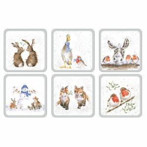 Pimpernel Wrendale Christmas Coasters