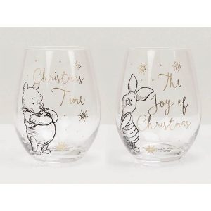 Disney Collectable Pooh and Piglet Glasses