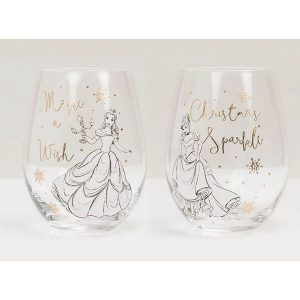 Disney Collectable Belle and Cinderella Glasses