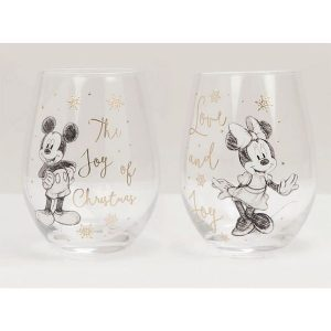 Disney Collectable Mickey and Minnie Glasses
