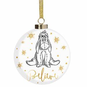 Disney Christmas Eeyore Believe Bauble