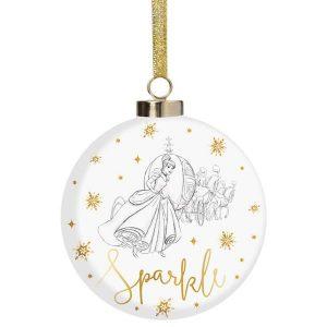 Disney Christmas Cinderella Sparkle Bauble