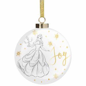 isney Christmas Belle Joy Bauble