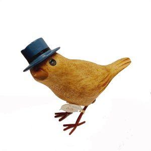 Garden Bird Blue Top Hat
