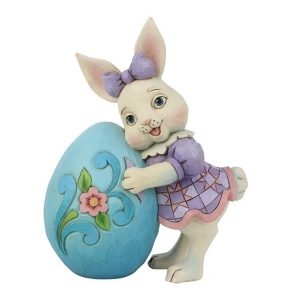 Jim Shore Pint Sized Girl Bunny With Egg