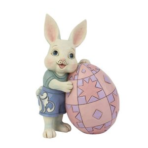Jim Shore Pint Sized Boy Bunny With Egg