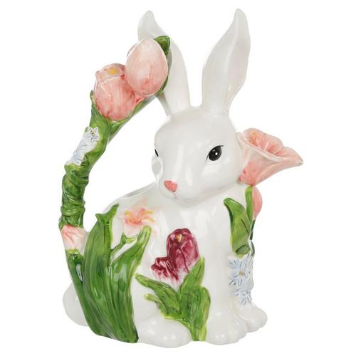 Bunny And Tulips Teapot