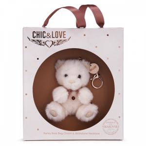 Bailey Bear Bag Charm & Necklace Gift Set - January