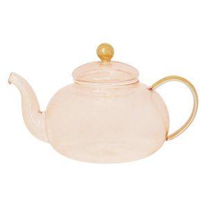 Cristina Re Rose Glass Teapot