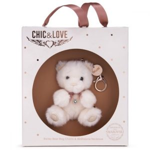 Bailey Bear Bag Charm & Necklace Gift Set - April