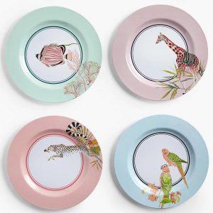Yvonne Ellen Safari Dinner Plates Set