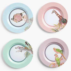 Yvonne Ellen Safari Side Plates Set
