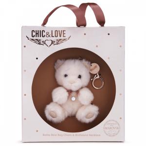 Bailey Bear Bag Charm & Necklace Gift Set - October