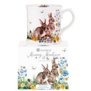 Ashdene Morning Meadows Bunny Mug