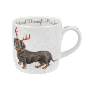 Wrendale Christmas Dachshund Snow Mug