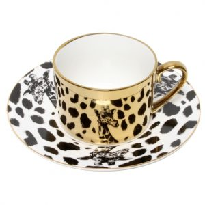 Christiana Giraffe Gold Reflection Cup And Saucer