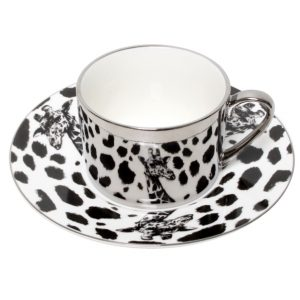 Christiana Giraffe Silver Reflection Cup And Saucer