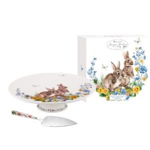 Ashdene Morning Meadows Footed Cake Stand & Server Set
