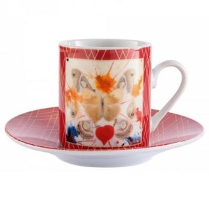 Dali Butterfly Espresso Cup & Saucer Set
