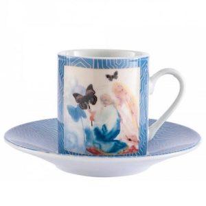 Dali Kneeling Woman Espresso Cup & Saucer Set