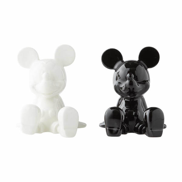 Salt And Pepper Shaker Set Black And White Mickey