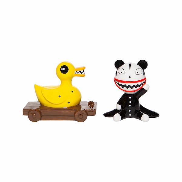 Salt And Pepper Shaker Set Scary Teddy & Killer Duck