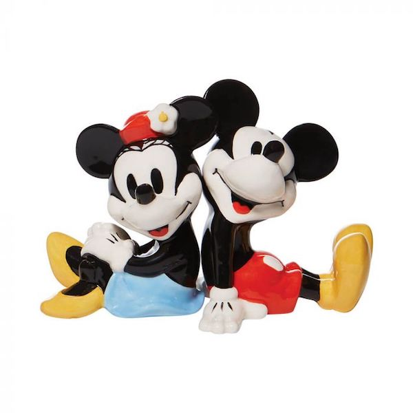 Mickey And Minnie Salt And Pepper Shaker Set