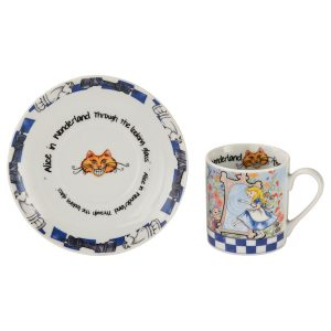 Cardew Designs Alice In Wonderland Looking Glass Cup And Saucer