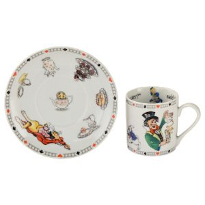 Cardew Designs Alice In Wonderland Looking Mad Hatter's Teaparty Cup And Saucer