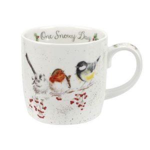Wrendale Christmas One Snowy Day Mug
