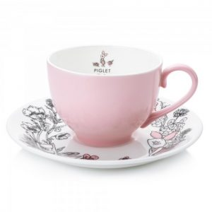 English Ladies Piglet Teacup and Saucer