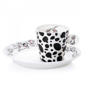 English Ladies 101 Dalmatians Espresso Cup and Saucer