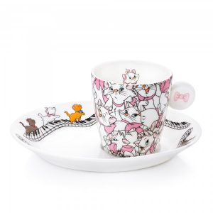 nglish Ladies Aristocats Espresso Cup and Saucer