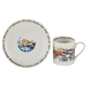 Cardew Designs Alice In Wonderland Alice Swimming Cup And Saucer