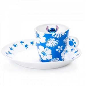 English Ladies Lilo & Stitch Espresso Cup and Saucer