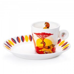 English Ladies Lion King Espresso Cup and Saucer