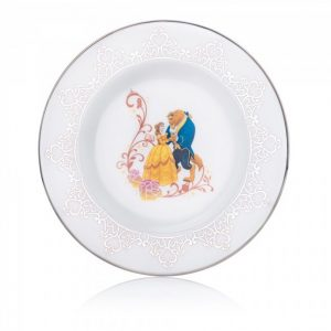 English Ladies Wedding Side Plate Beauty And The Beast