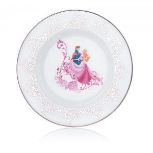 English Ladies Wedding Side Plate Sleeping Beauty